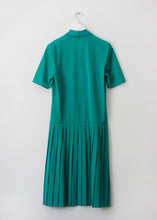 Load image into Gallery viewer, GREEN VINTAGE DRESS