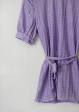 Load image into Gallery viewer, BELTED LAVENDER BLOUSE
