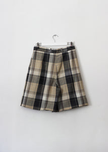 CHECKED VINTAGE SHORTS