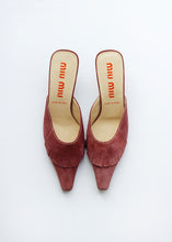 Load image into Gallery viewer, MIU MIU SUEDE MULES, 38