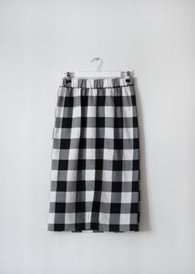 CHECKED SKIRT WITH FRONT SLIT