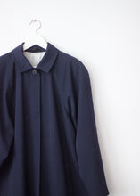 Load image into Gallery viewer, NAVY BLUE VINTAGE TRENCH
