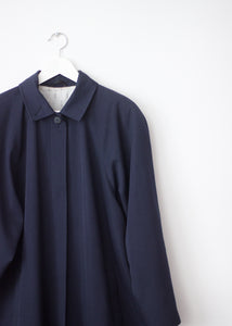 NAVY BLUE VINTAGE TRENCH