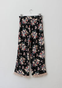 ORIENTAL STYLE PANTS WITH FEATHERS