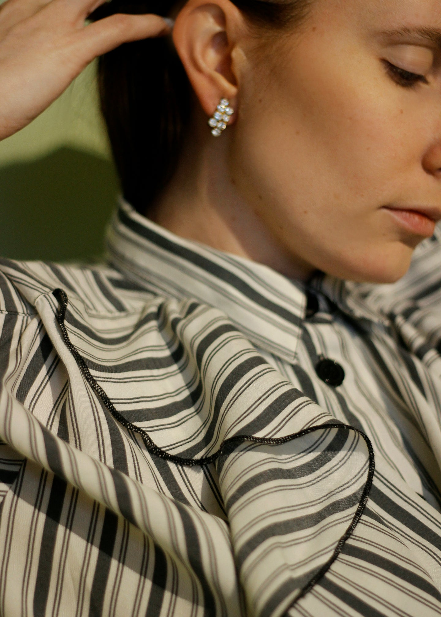 STRIPED VINTAGE BLOUSE