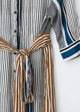 Load image into Gallery viewer, STRIPED SHIRT DRESS