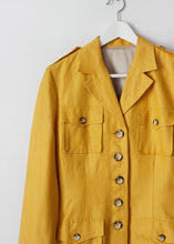 Load image into Gallery viewer, VINTAGE LINEN & SILK BLAZER