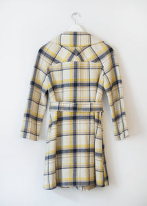 CHECKED VINTAGE COAT