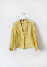 Load image into Gallery viewer, YELLOW ORGANZA BLOUSE