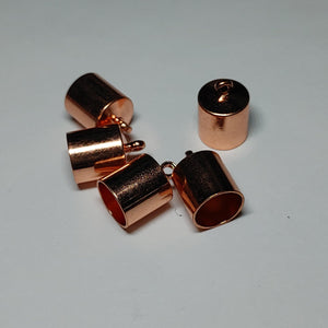 End Cap - Barrel 6 pk Copper 8mm - PoCo Inspired