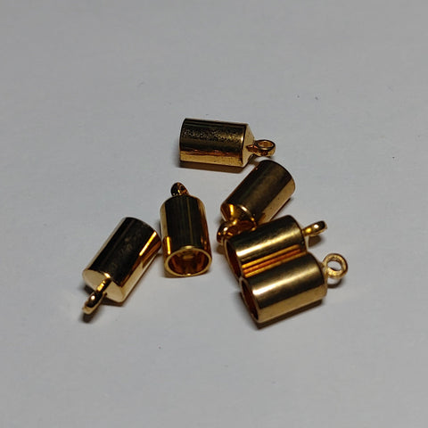 End Cap - Barrel, 6 pk Gold 4mm - PoCo Inspired