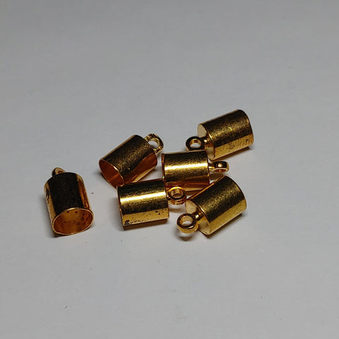 End Cap - Barrel, 6pk Gold 4.5mm - PoCo Inspired