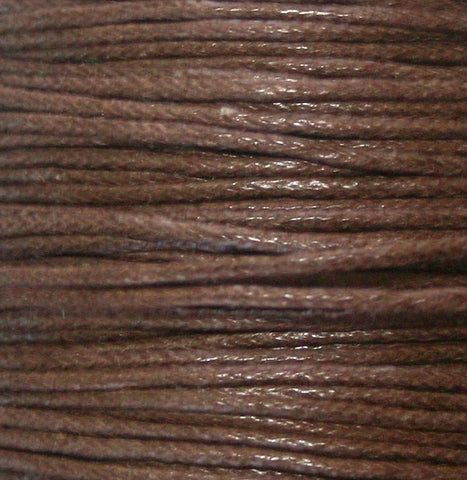 Cord, Cotton Wax 1mm - Dk Brown - PoCo Inspired