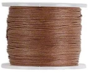 Cord, Cotton Wax 1mm - Lt. Brown - PoCo Inspired