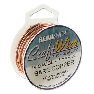 Craft Wire, Round - Bare Copper - PoCo Inspired