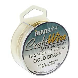 Craft Wire, Round - Bare Gold Brass - PoCo Inspired