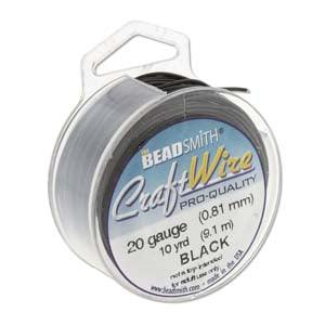 Craft Wire, Round - Black - PoCo Inspired
