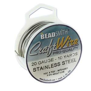 Craft Wire, Round - Stainless Steel - PoCo Inspired