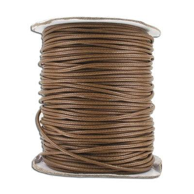 Cord, Cotton Wax 2mm - Brown - PoCo Inspired