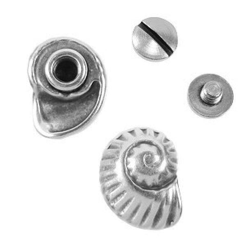 Screw Set, Nautilus Antique Silver - PoCo Inspired
