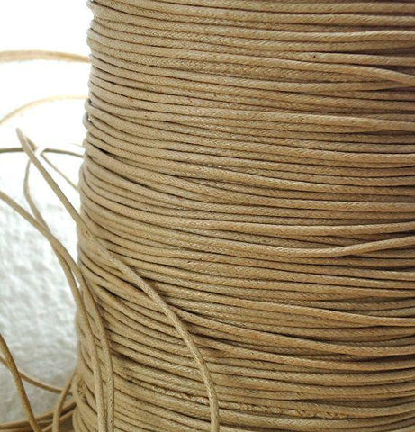 Cord, Cotton Wax 1.5mm - Natural - PoCo Inspired