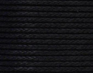 Cord, Cotton Wax .07mm - Black - PoCo Inspired