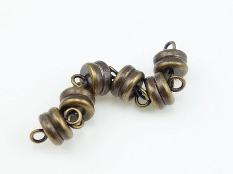Magnet Clasp Antique Brass 6mm - 5 pc - PoCo Inspired