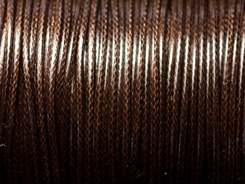 Cord, Cotton Wax .5mm - Brown - PoCo Inspired
