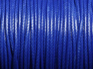 Cord, Cotton Wax 2mm - Royal Blue - PoCo Inspired