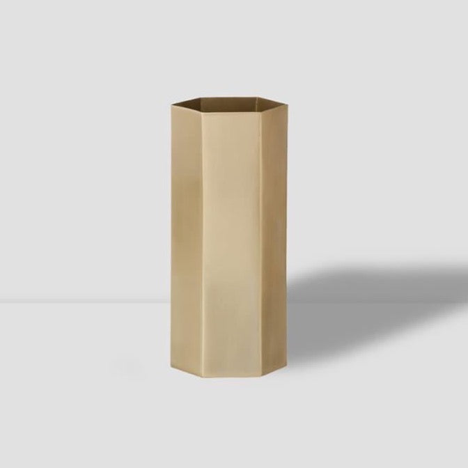 FERM LIVING | Hexagon Vase | Brass