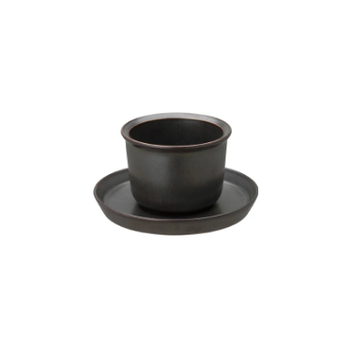KINTO | LT Cup & Saucer | 160ml | Black | White