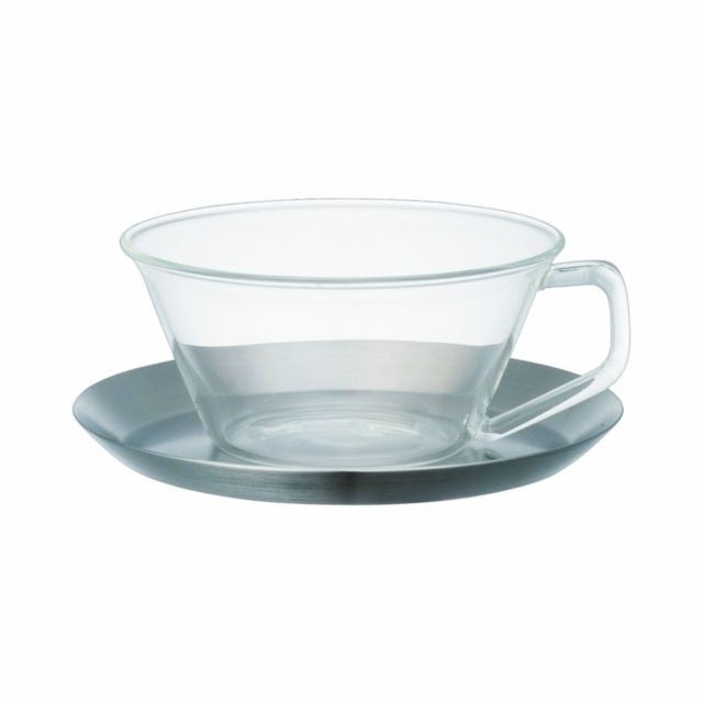 KINTO | Cast Tea Cup & Saucer |  Stainless Steel | 220ml