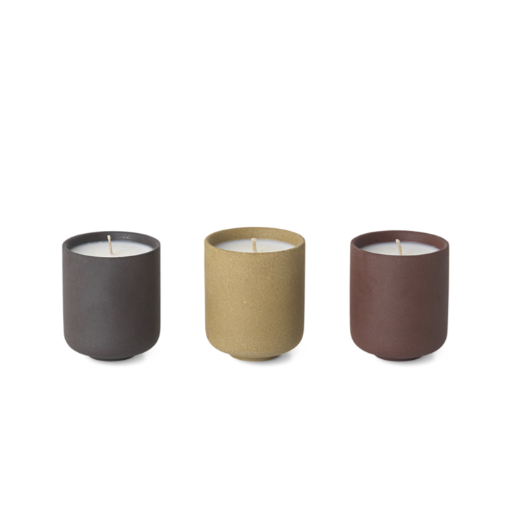 FERM LIVING | Sekki | Scented Soy Candle | Set Of 3