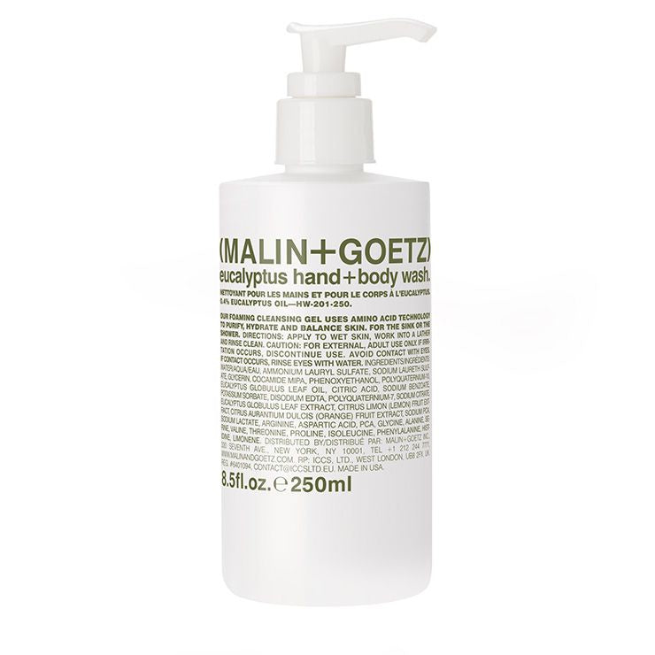 MALIN+GOETZ |  Eucalyptus Hand + Body Wash | 8.5fl.oz | 250ml