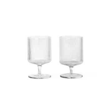 FERM LIVING | Ripple Wine Glasses | Set of 2 | Clear