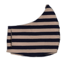 Navy & Buff Medium Stripe Stripe Face Mask