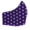 Purple White Stars Face Mask