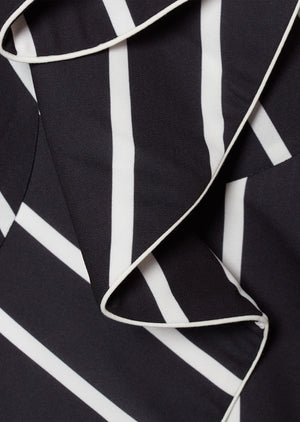 COSTANERA SKIRT IN BLACK AND WHITE STRIPES