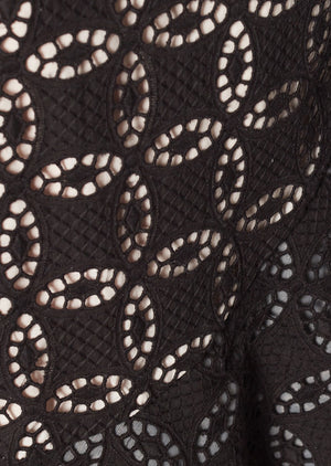 Load image into Gallery viewer, COSTANERA SKIRT IN BLACK EYELET