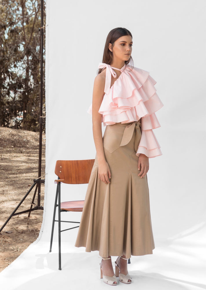 Load image into Gallery viewer, SOMBRITA SKIRT IN CAMEL