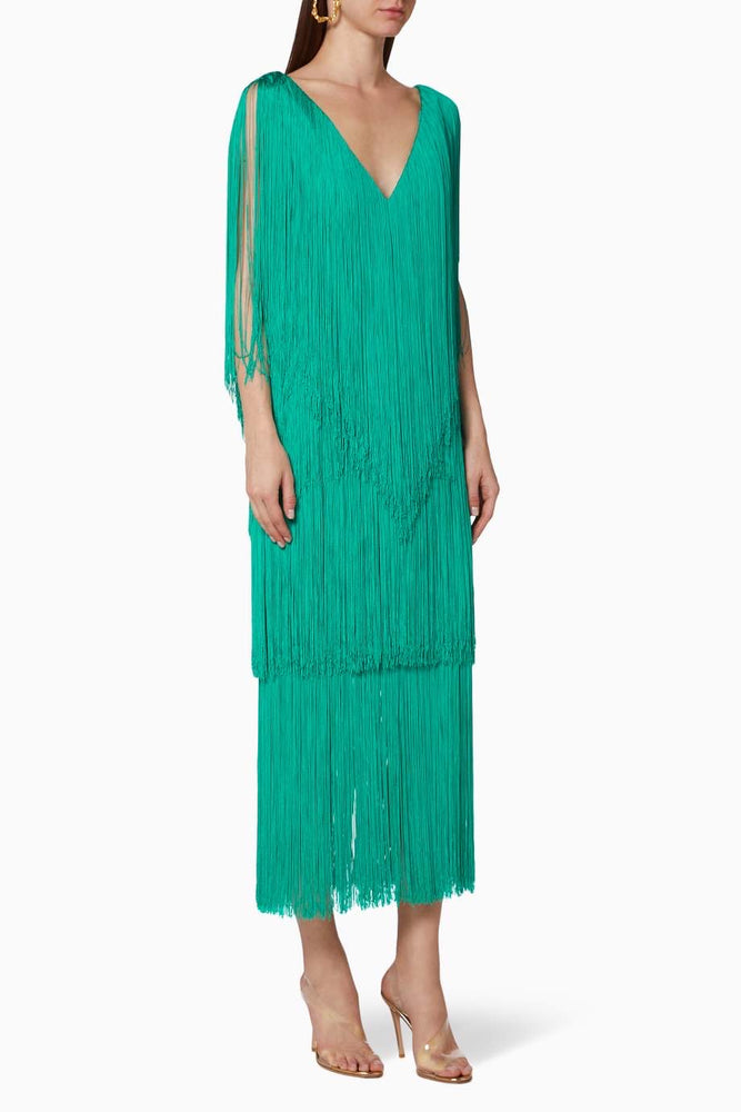 Load image into Gallery viewer, LUCERO DRESS IN EMERALD GREEN