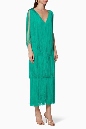 LUCERO DRESS IN EMERALD GREEN
