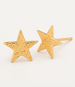 "Gorjana Small Stud Star Earrings.  The perfect everyday stud earrings you'll keep in constant rotation or perhaps never take off. The Small Star Stud earrings are designed to integrate into anyone's style or fit any occasion.   Studs measure 3/8"". Available in 18k gold plated brass or silver."