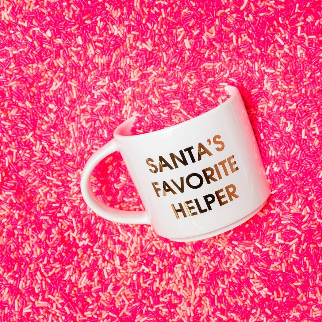 Santa's Favorite Helper Gold Metallic Mug