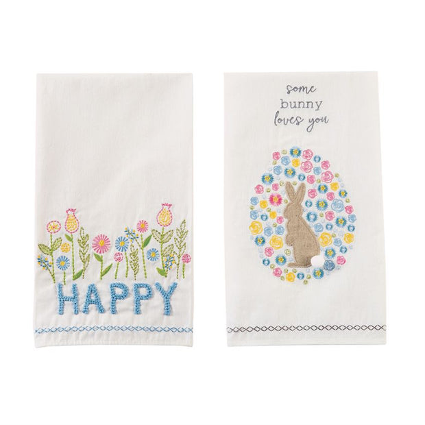 Embroidered Easter Towels