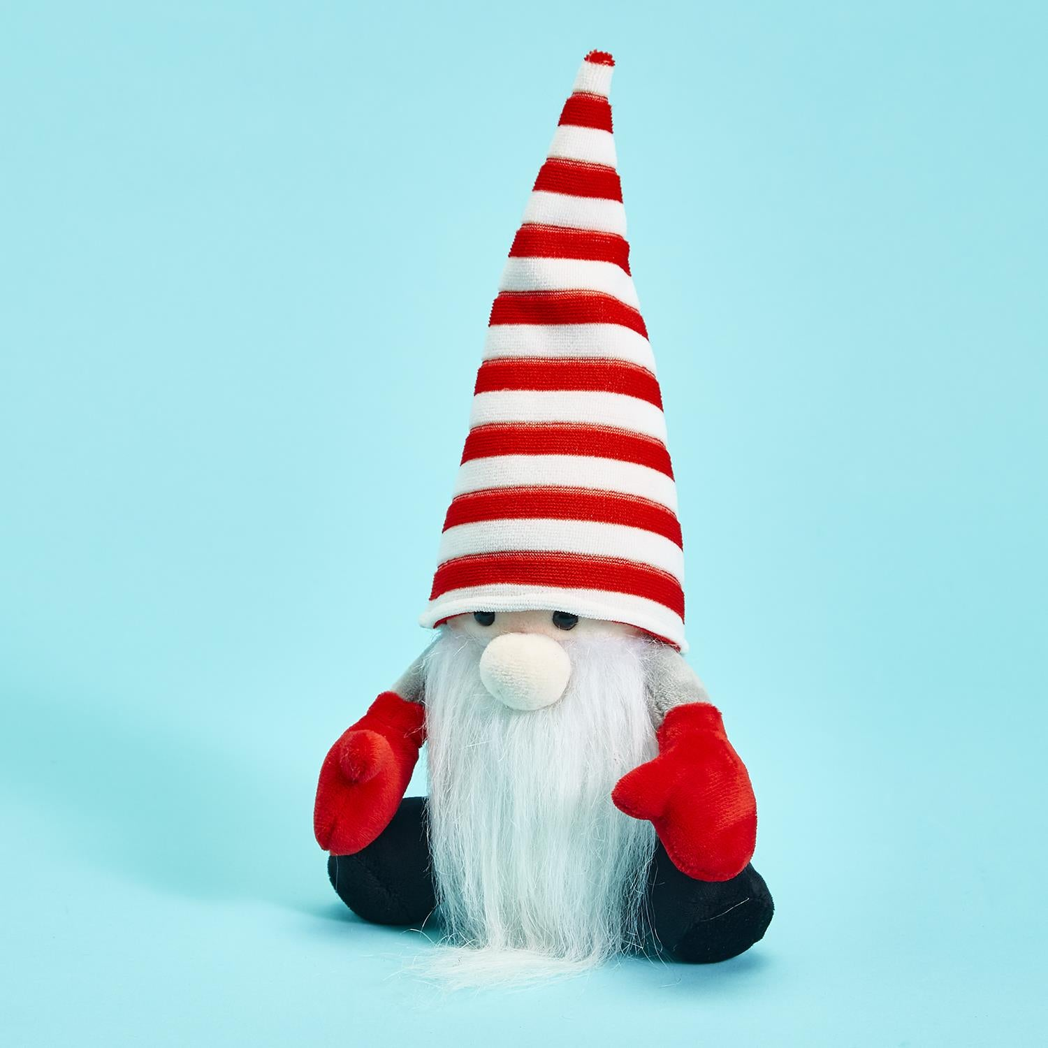 "This cute little Gnome will say exactly what you say. Adorable for kids and fun for all ages.   Holiday Gnome with Speak and Repeat Body Movement Functions (requires 3 AAA batteries, not included) Polyester/Plastic 6 1/2"" W x 5"" D x 12"" H."