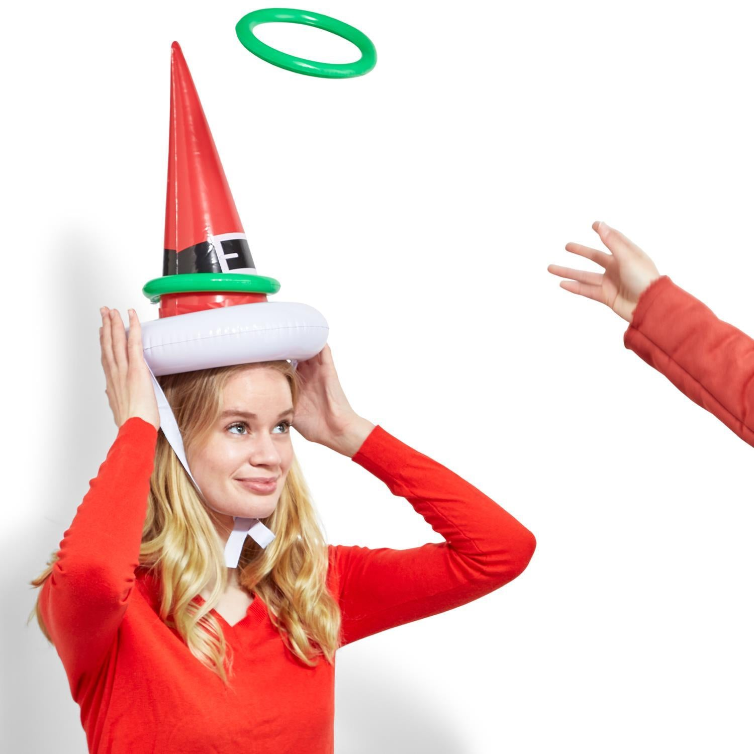 Inflatable Santa's Hat Ring Toss Game
