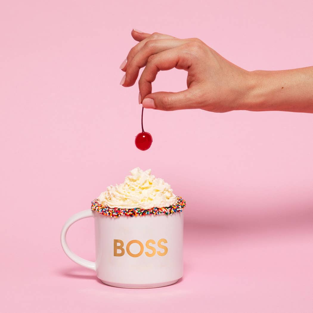 BOSS Gold Metallic Mug