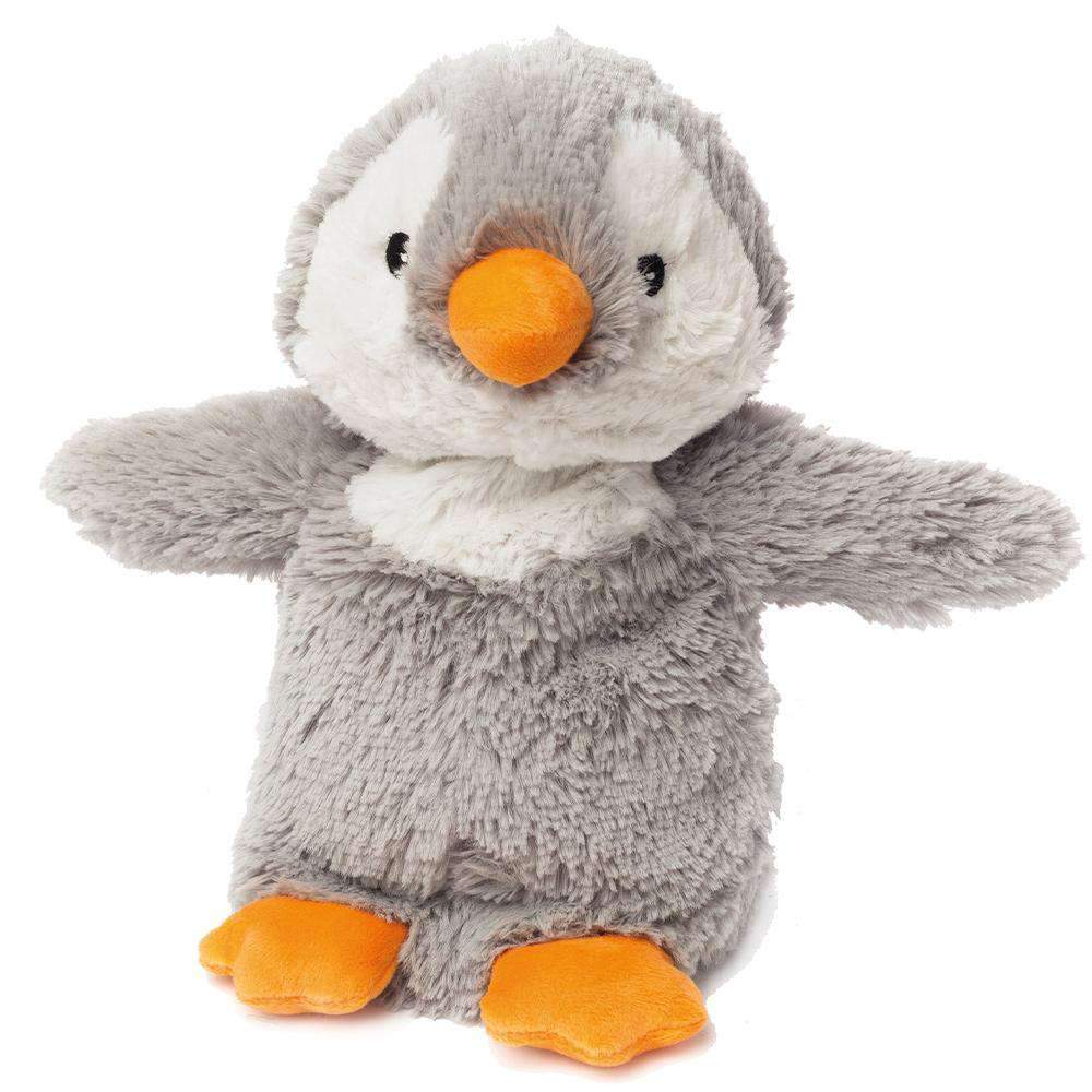 The Warmies Grey Penguin is a fun, fully microwavable stuffed animal made from luxurious soft plush.  Entirely safe to hold right after heating. The Calico Cat is gently scented with French lavender that is carefully sourced from local growers in Provence.