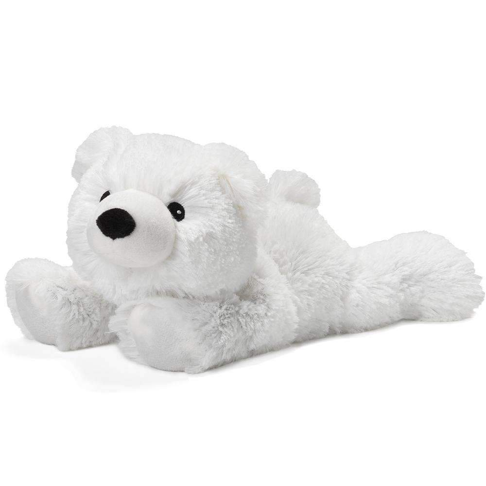 The Warmies Polar Bear is a fun, fully microwavable stuffed animal made from luxurious soft plush. Entirely safe to hold right after heating. The Golden Dog is gently scented with French lavender that is carefully sourced from local growers in Provence.